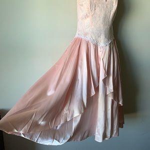 Vintage 80s light pink gunne Sax princess dress